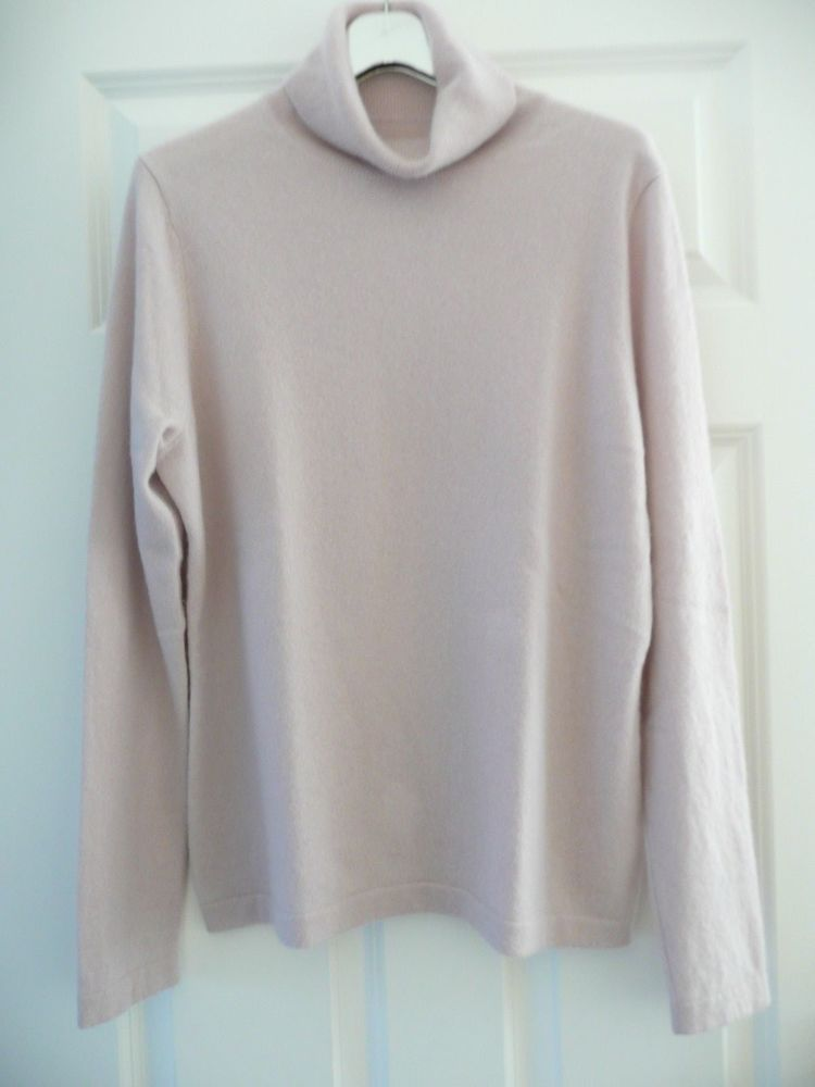 0f9bc922101d PURE COLLECTION LADIES PINK 100% PURE CASHMERE POLO NECK JUMPER SIZE UK 18   fashion  clothing  shoes  accessories  womensclothing  sweaters (ebay link)