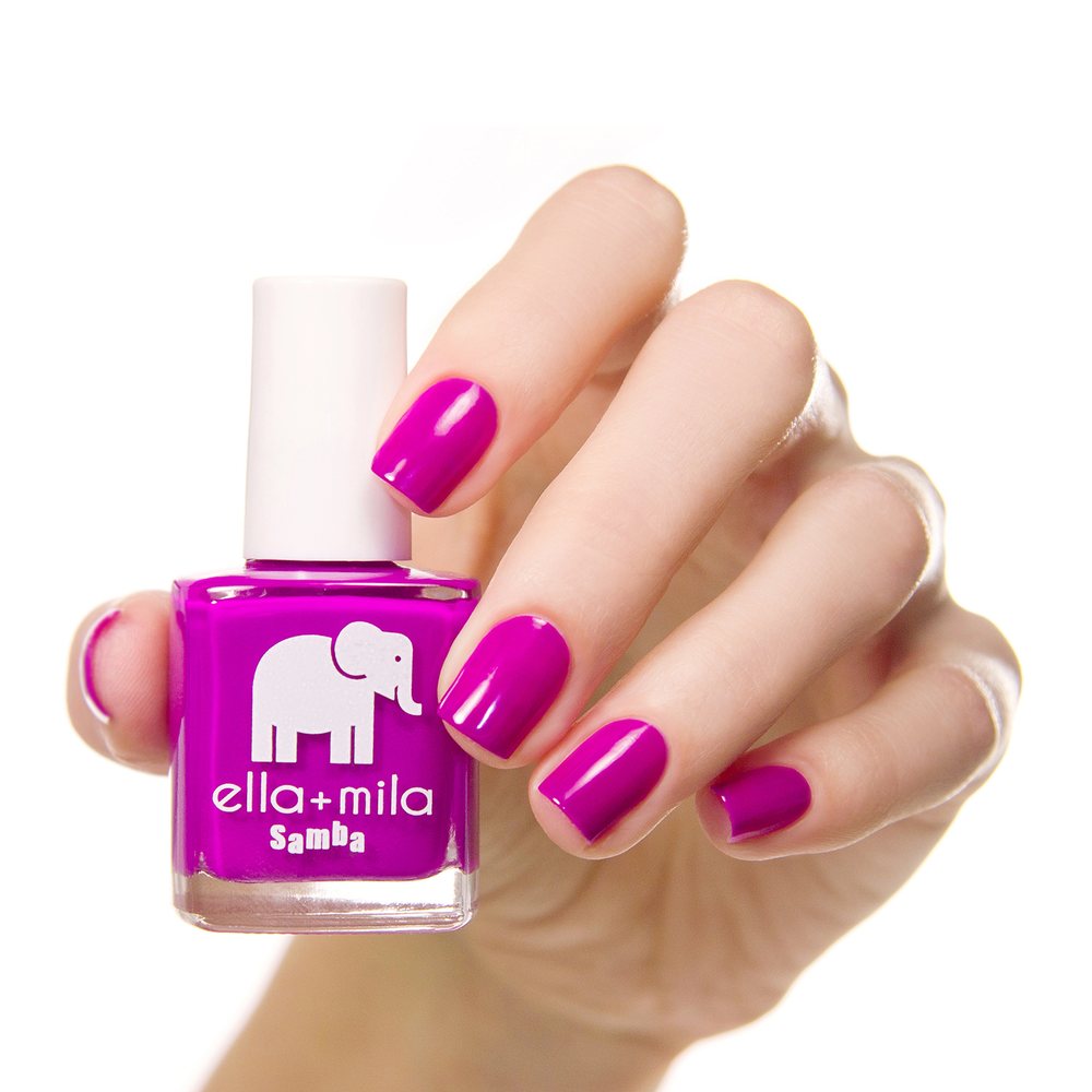 This shocking purple creme nail polish will have your nails reign ...