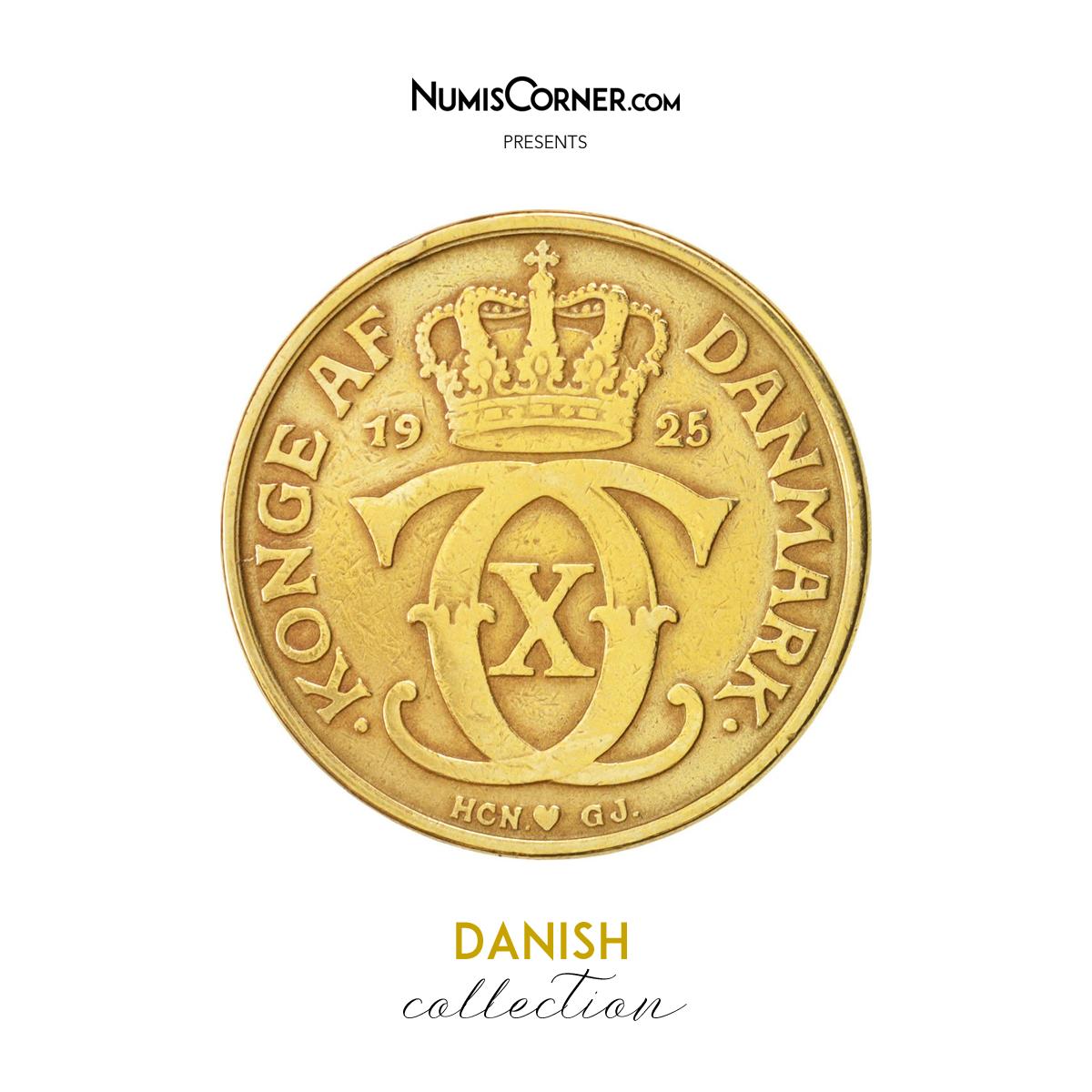 Coin Denmark Christian X 2 Kroner 1925 Copenhagen Vf 30 35 Copenhagen Denmark Coins