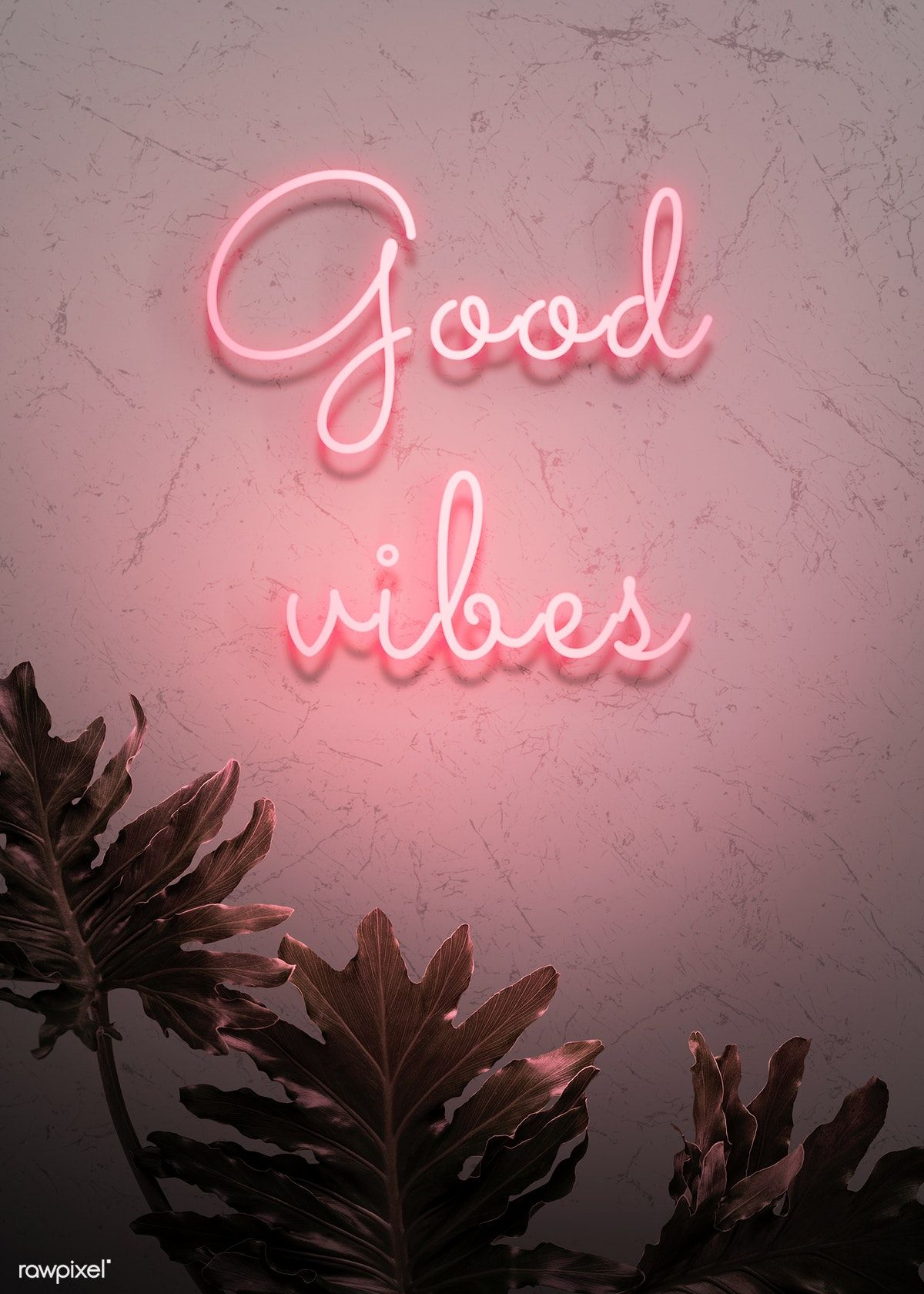 Download Premium Psd Of Neon Red Good Vibes On A Wall 894340 Neon Wallpaper Pastel Pink Aesthetic Aesthetic Iphone Wallpaper