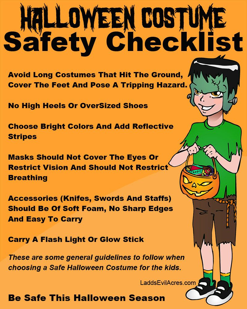 costume safety tips for halloween party halloweenonearthcom - Halloween Tips