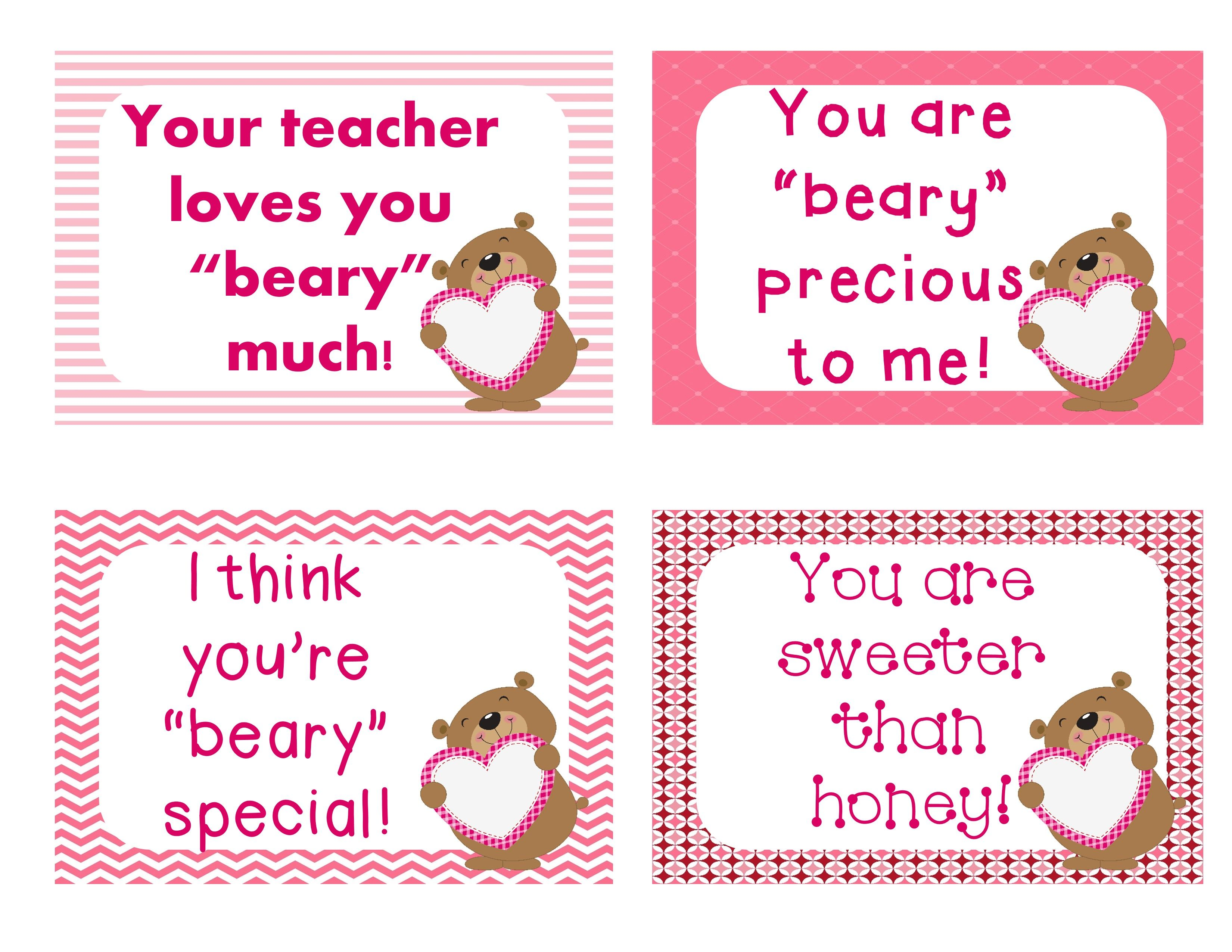 FREE Valentines Day Cards for your students 24 different cards