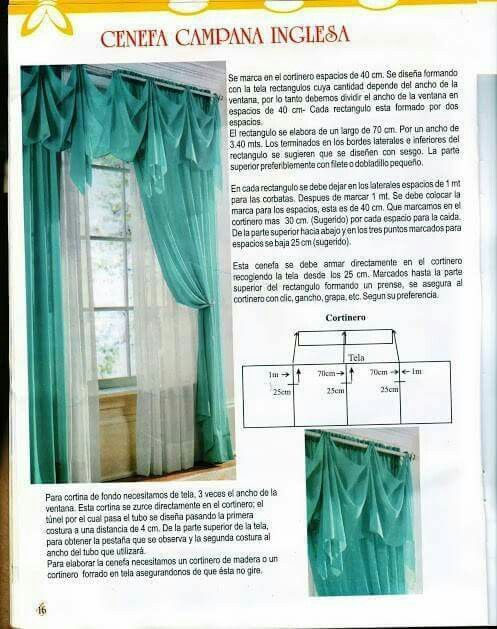 curtain   costura   Pinterest   Cortinas, Cortinas cenefa y Cenefa