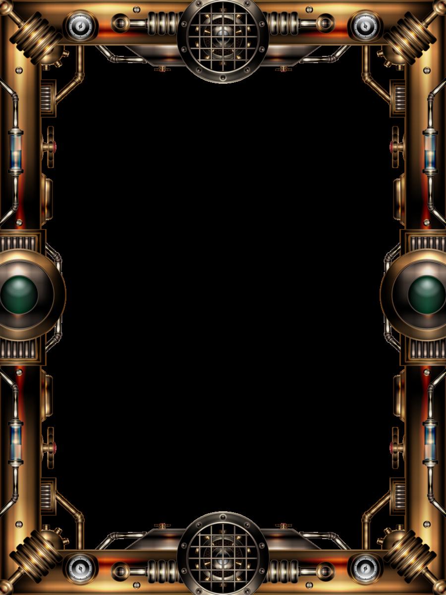 Steampunk Frame Illustratorg Deviantart