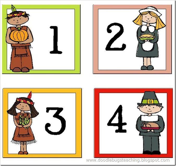 Doodle Bugs Teaching November Calendar Cards {free download