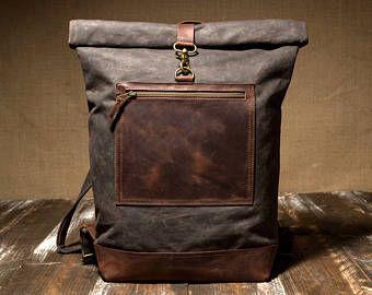 gewachstem canvas tasche mens rucksack gewachst rucksack n hprojekte und ideen pinterest. Black Bedroom Furniture Sets. Home Design Ideas