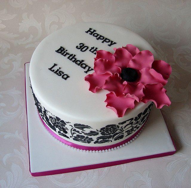 Elegant 30th Birthday Cake