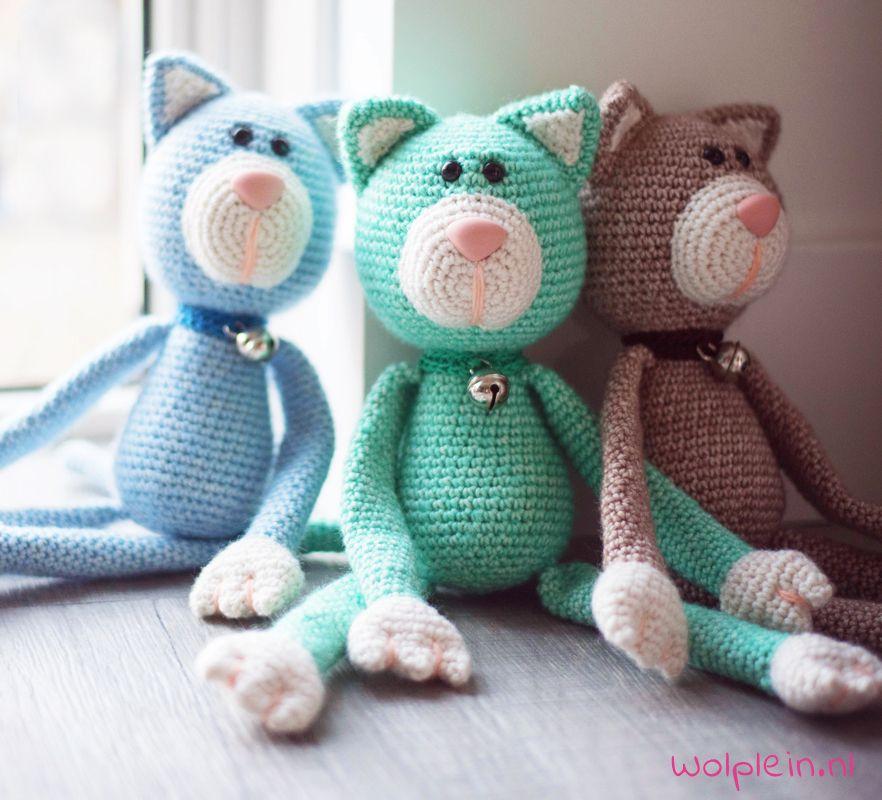 Knuffels haken - Poes miauw! | Amigurumi, Crochet and Haken