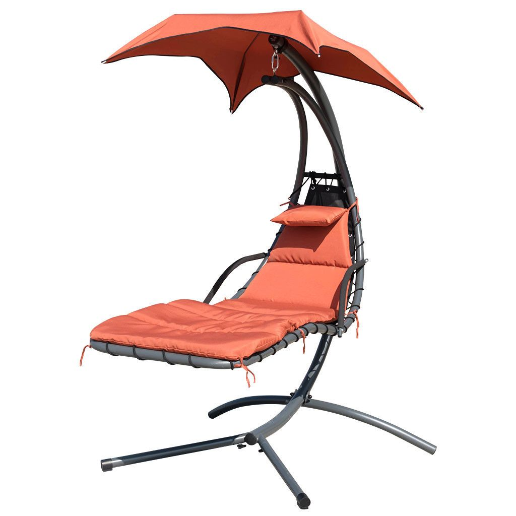Algoma Cloud 9 Hanging Lounge Chair With Stand Patio Garden Furniture Home Garden