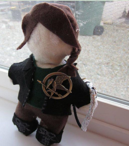 A Cute Hunger Games Katniss Doll