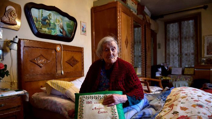 Emma Morano, 116 y. Has not been married and eats 3 raw eggs every day..