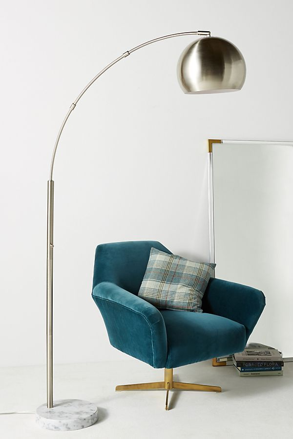 2019 Floor Lamps, Silver Actoria Arc Floor Lamp in 2019 Lights Arc floor