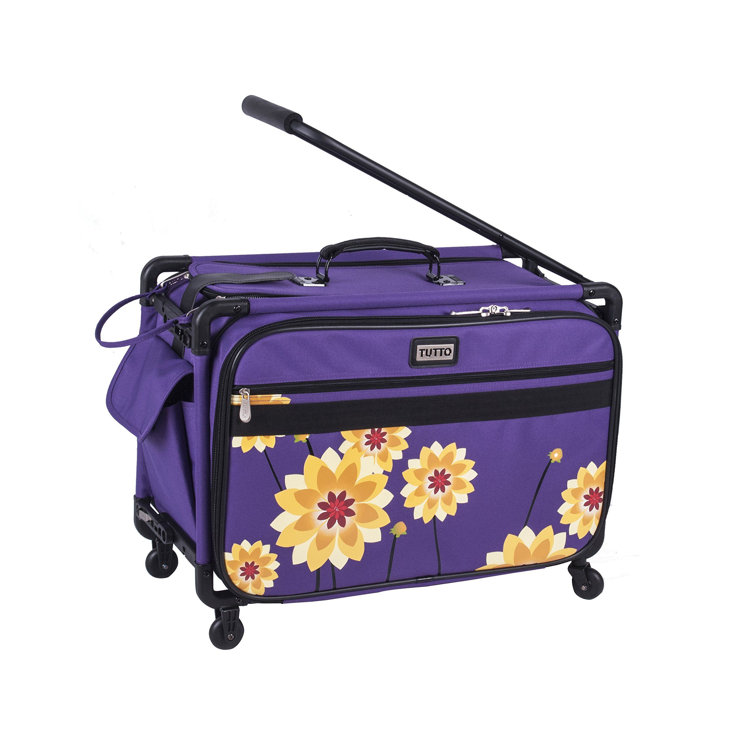 16+ Rolling craft tote purple information