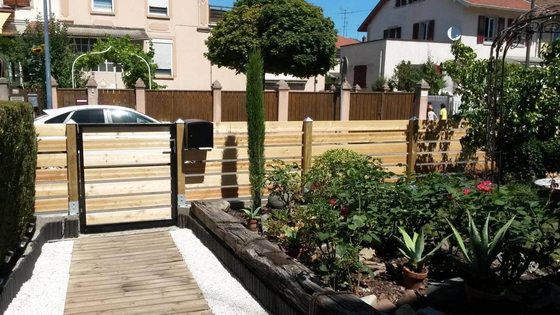Cloture Portails Portillons Jardin Design Cloture Bois Panneau Cloture Bois Bois Meleze