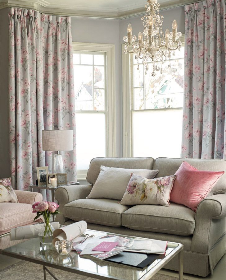 Laura Ashley Peonies Floral Cushion | Beatrice Cyclamen Floral Linen ...