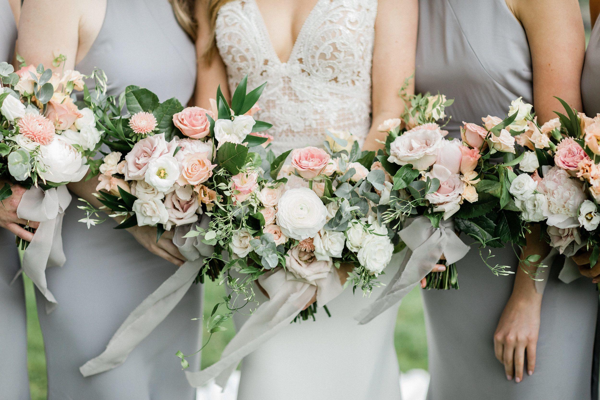 Bouquets By Designs By Ahn Cream Blush Pink Wedding Flowers