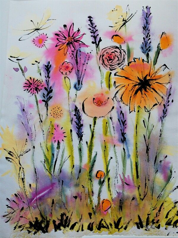 Kids Art Project Ideas Watercolour FlowersWatercolor