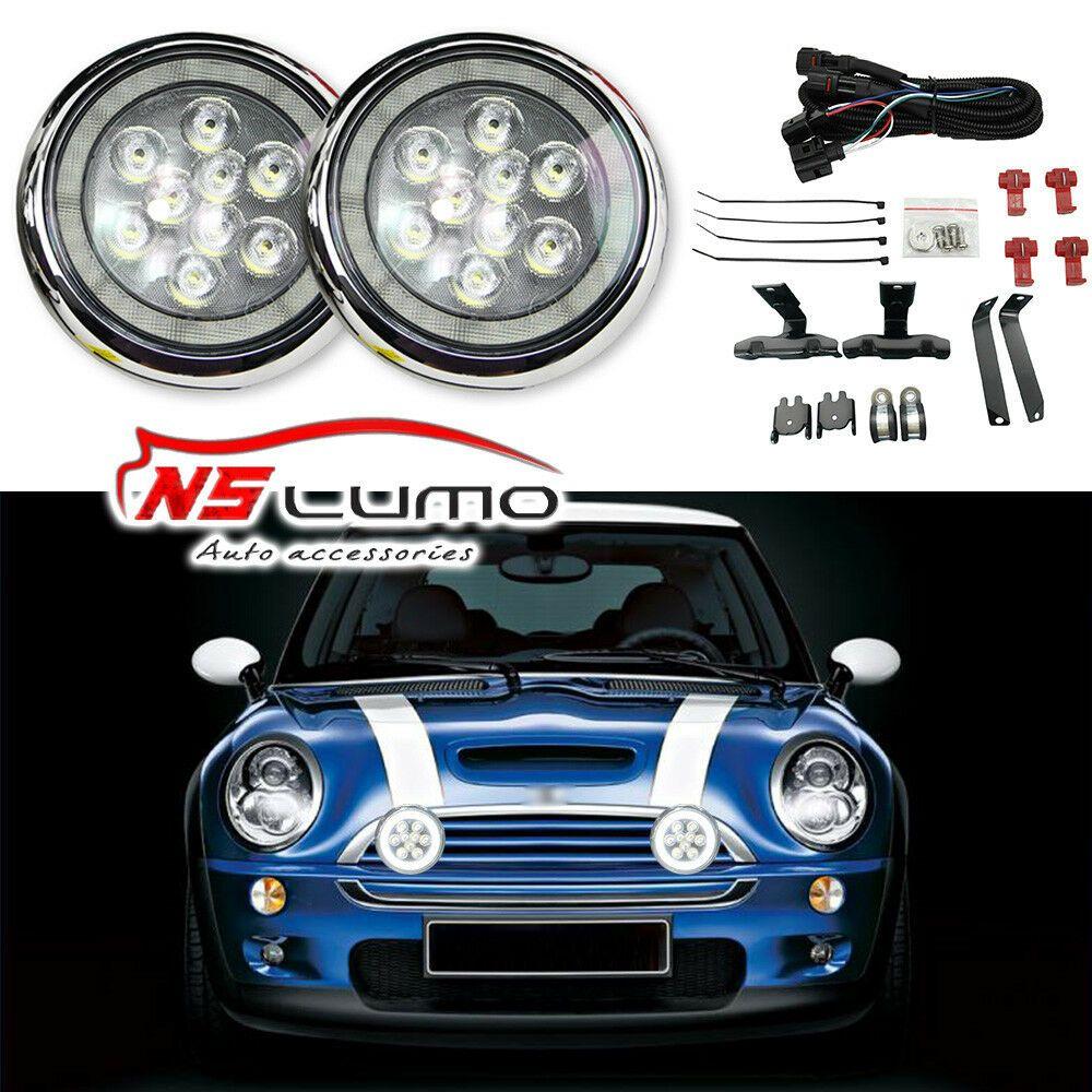 Ad Ebay Mini Cooper R50 R52 R53 Cooper S Front Bumper Rally Fog Light Set L Mini Cooper Mini Mini Convertible