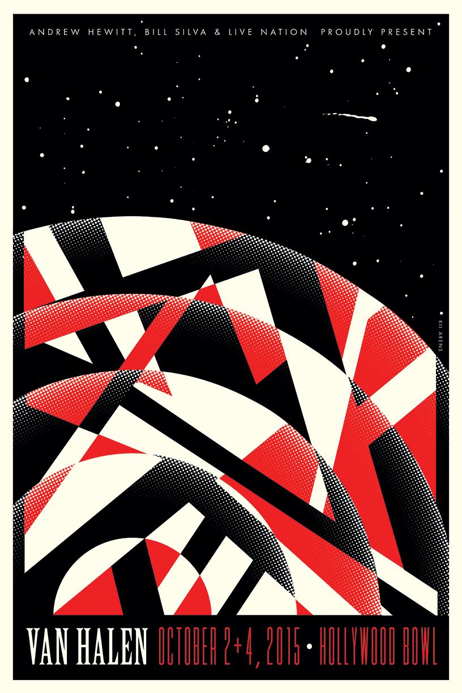 VAN HALEN HOLLYWOOD BOWL 2015 | Van halen, Vintage music posters, Music  poster
