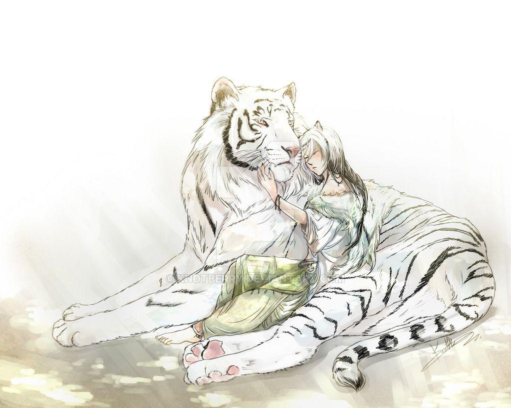 White Tiger And Human Companion Tiger Art Tiger Anime Anime White