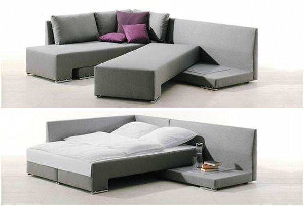 Le canapé d\u0027angle convertible en beige - Archzinefr Livingrooms