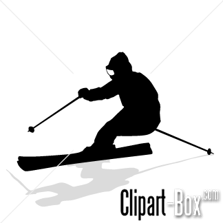 10+ Skiing Clipart Black And White