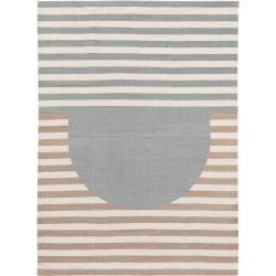 Photo of benuta Wollteppich Oasis Mint/Beige 160×230 cm – Naturfaserteppich aus Wolle benuta