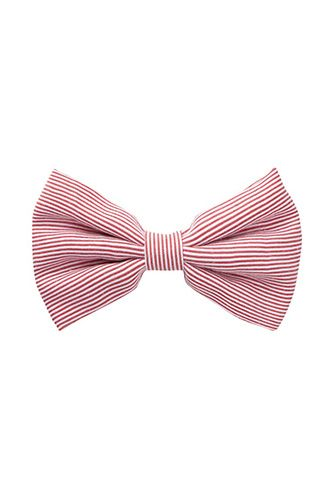 Pinstriped Bow Barrette | FOREVER21 - 1000086333