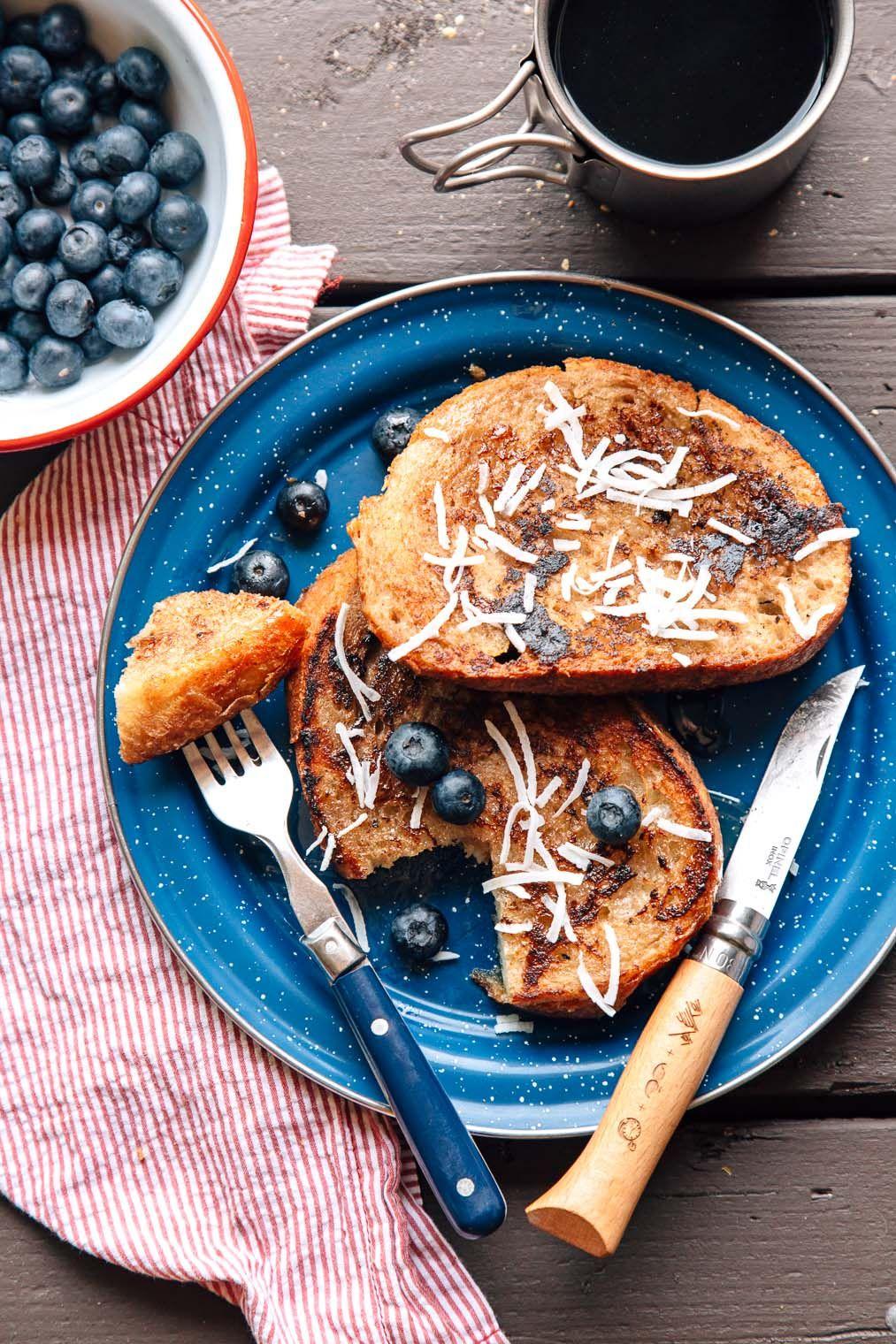 banana coconut french toast | recipe | breakfast all day | pinterest