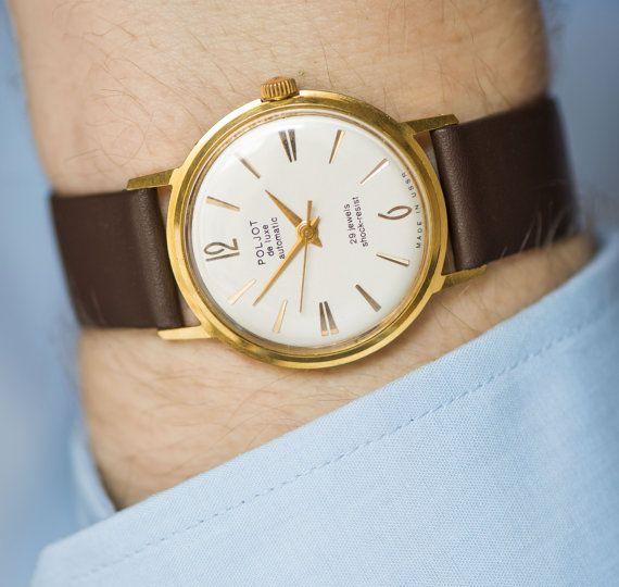 Luxury men's watch automatic men's wristwatch Poljot by SovietEra