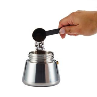 BonJour Coffee Stainless Steel 4-cup Stovetop Espresso Maker (4-Cup Stovetop Espresso Maker), Silver(Metal)