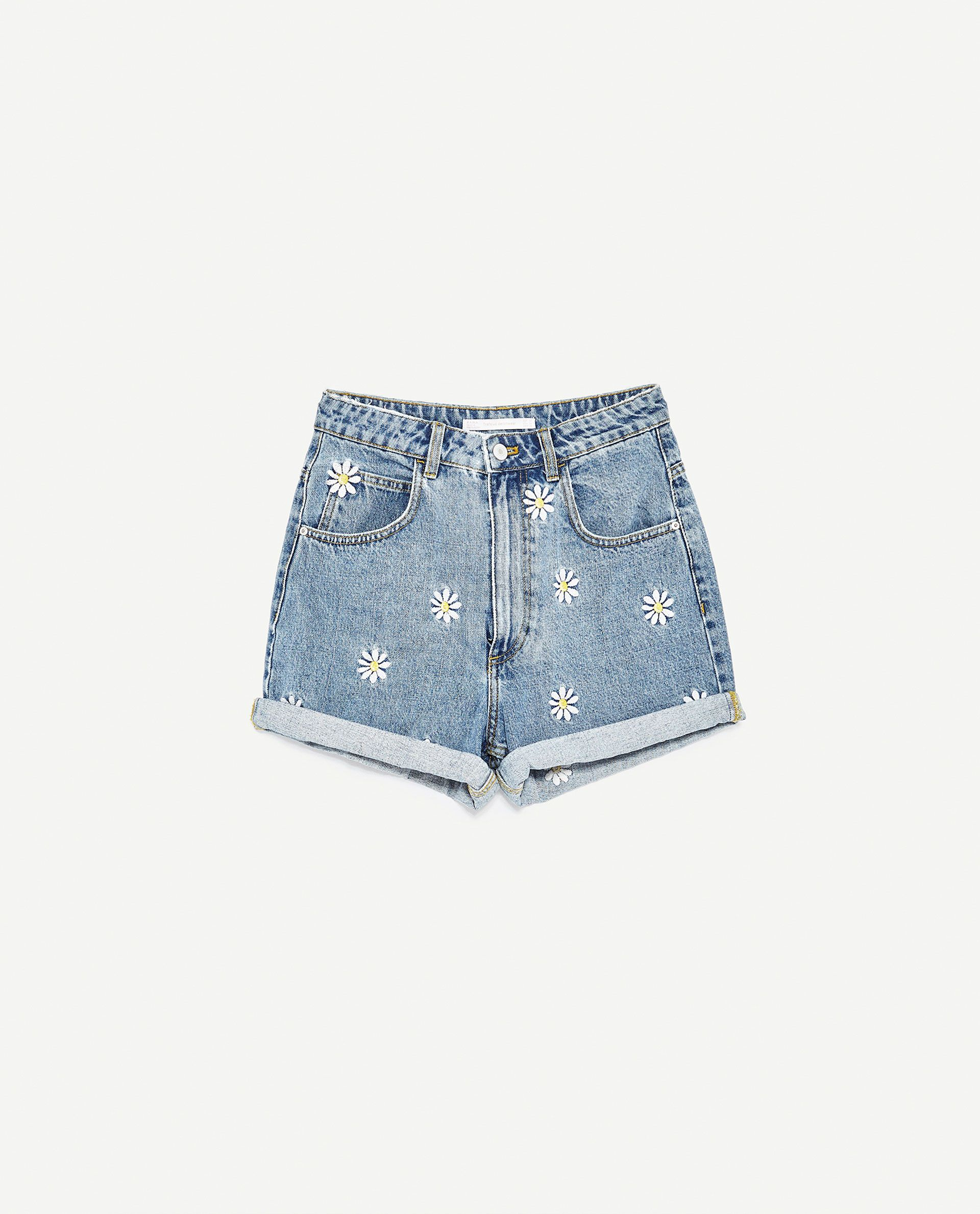 0c03c2ea08 BERMUDA SHORTS WITH EMBROIDERED DAISIES from Zara | Clothing in 2019 ...