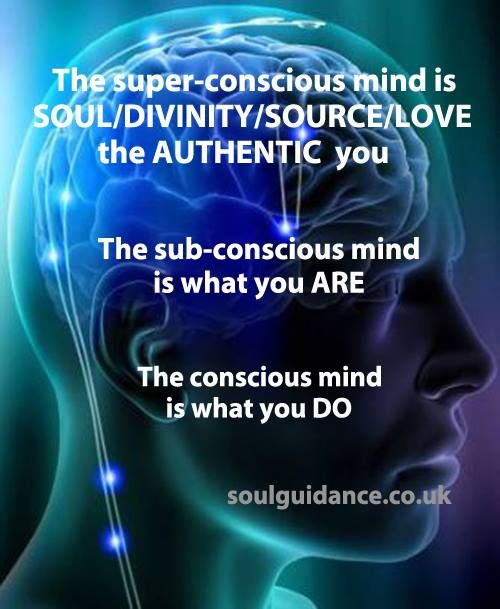 The Super-Conscious Mind is SOUL/DIVINITY/SOURCE/LOVE, the