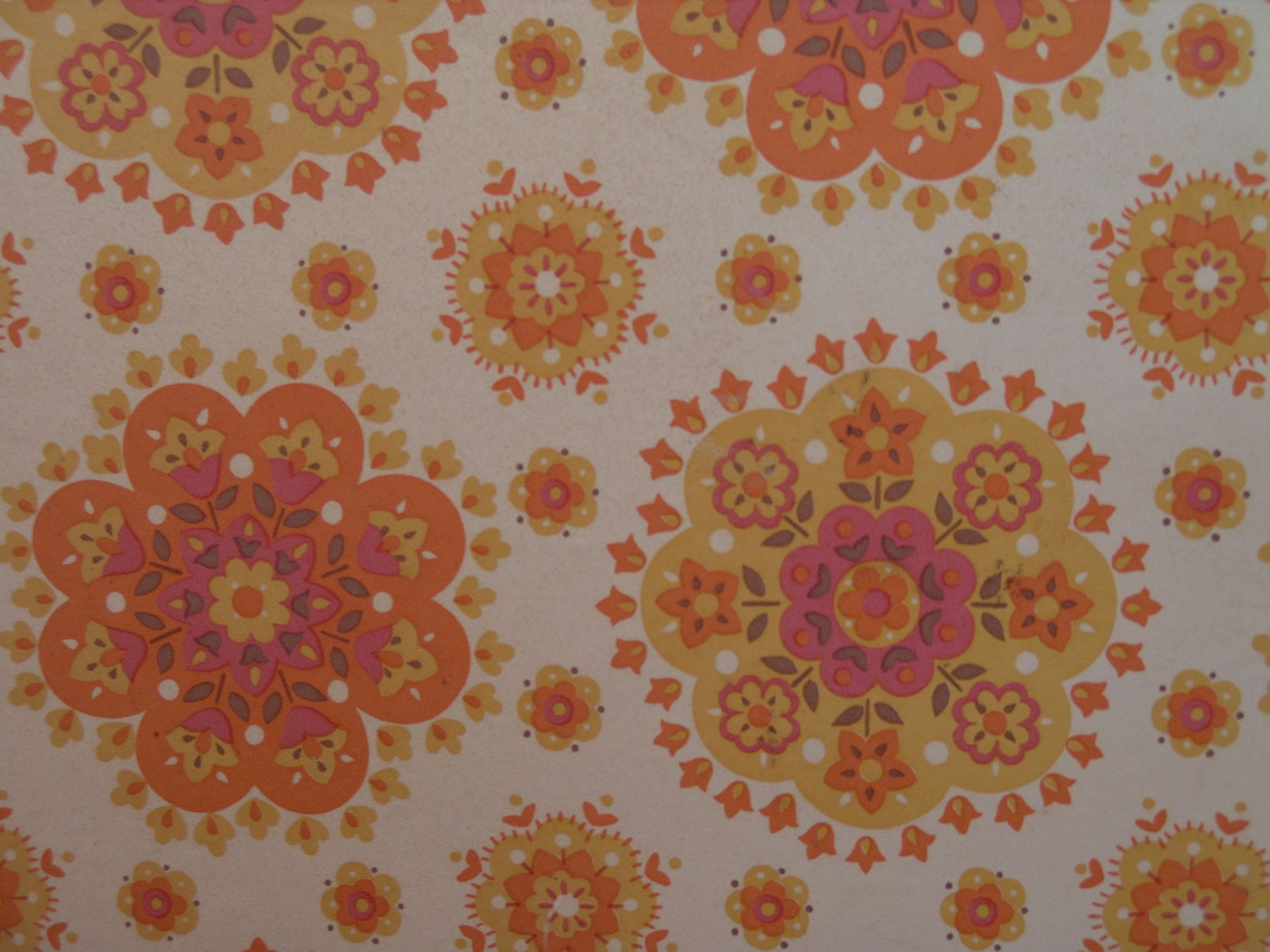 Pink Flower Wallpaper For Bedrooms Yellow Orange Pink Circular Flower For The Munchkins Pinterest