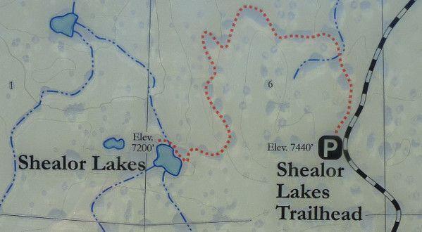 Shealor Lake Trail Map Lake Trail Trail Maps