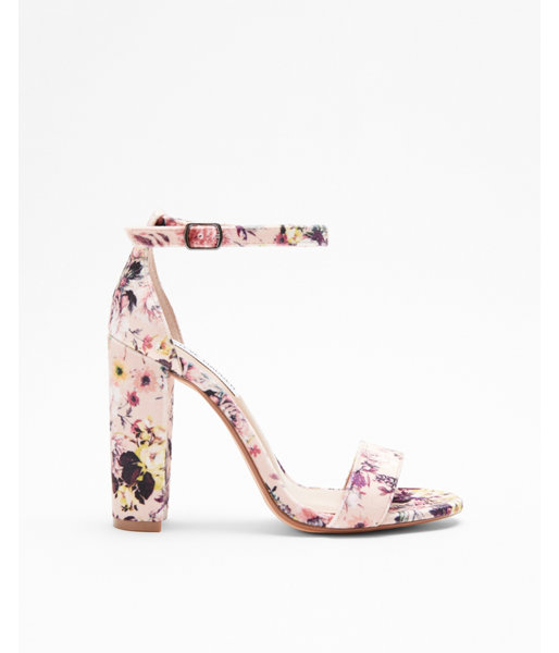 23167380092 Steve Madden Floral Carrson Heeled Sandals Pink Women's 6 | Products ...