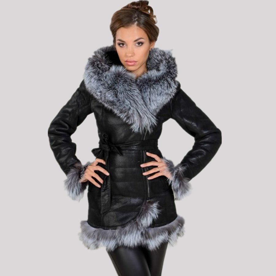 d647be849ab Factory direct supplier 2017 new women s coat fashion Faux fox fur hooded  warm winter large size high-quality brand suede plush.