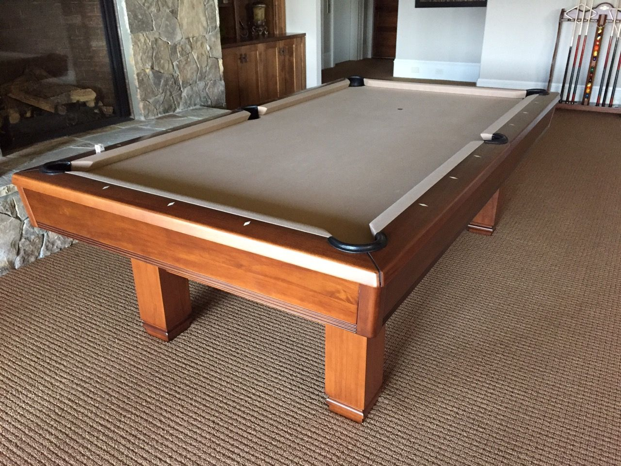 brunswick bridgeport pool table installed and sold by everything