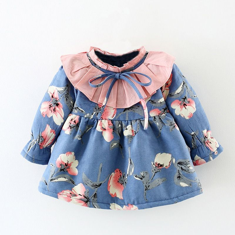 6cbb8ade86c Check out my new Pretty Floral Flounced Bow Dress for Baby Girl