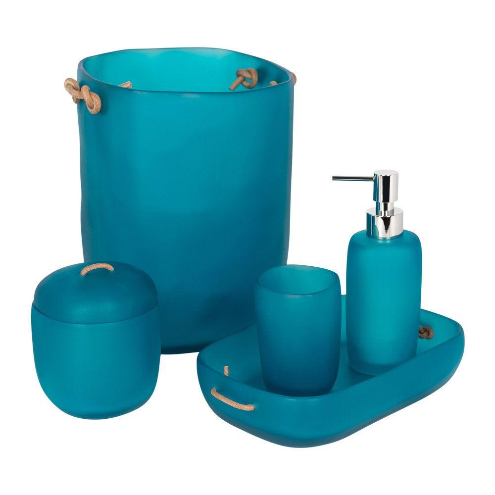 Water Bath Bathroom Accessory Set Ocean Blue Bathroom