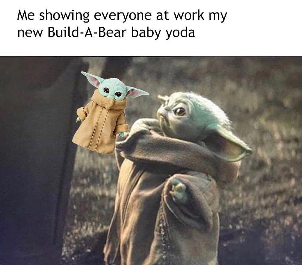 Baby Yoda Memes On Instagram Babyyoda Babyyodamemes Starwars Starwarsmemes Yoda Yodamemes Themandalorian Themandalorianmeme Yoda Funny Yoda Meme Yoda