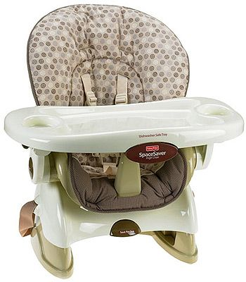 fisher price space saving high chair target round dorm saver tan swirl it s cute has three recline positions and works with my bar height table love