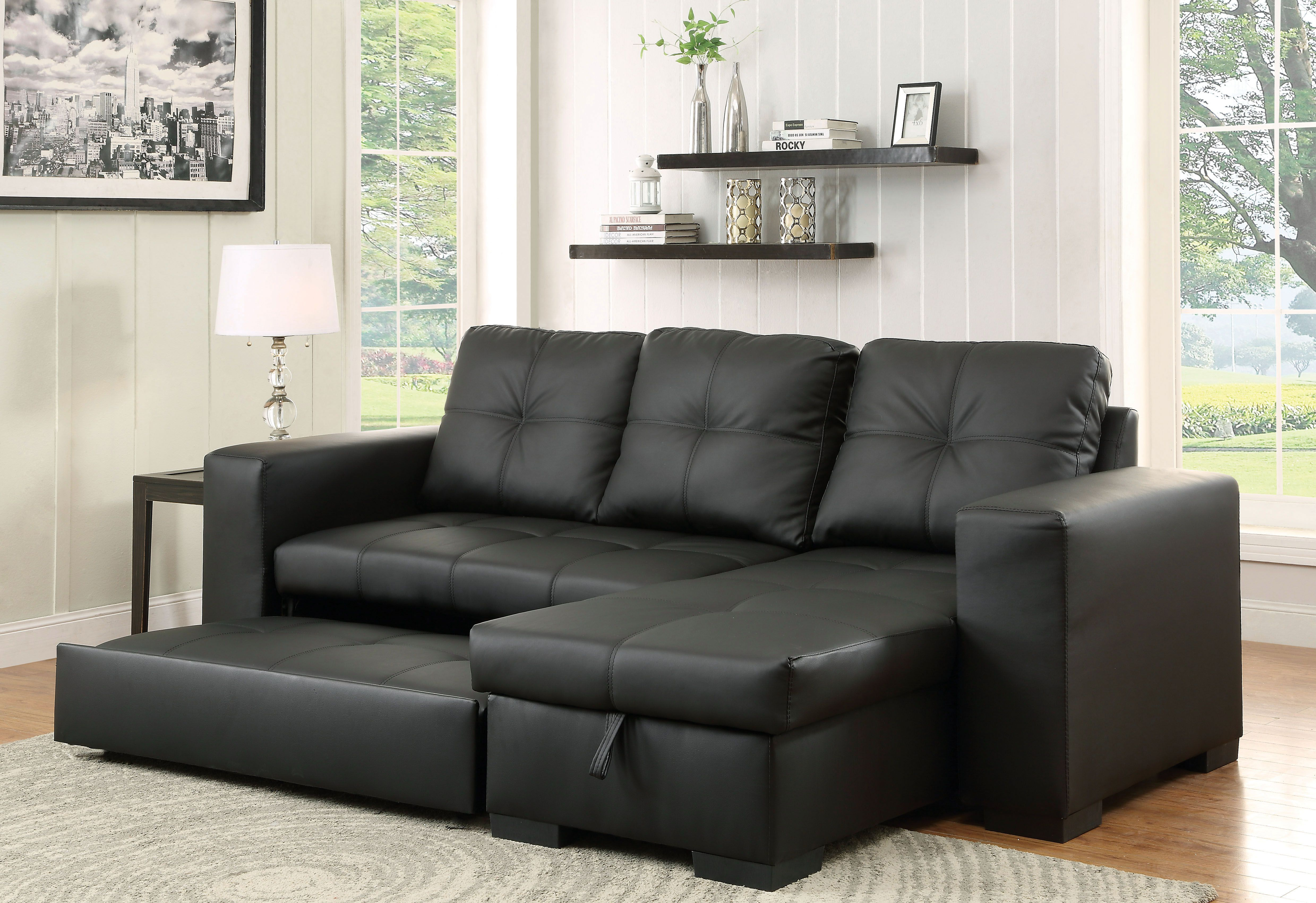 Furniture Of America Denton Bonded Leather Sectional With Images Sectional Sofa Couch Furniture Of America