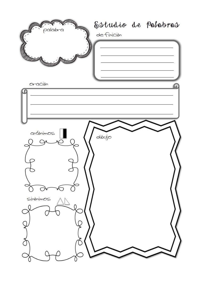 Artesanato O Que É ~ organizador gráfico para trabajar las palabras sinónimos y antónimos imprimible para agenda