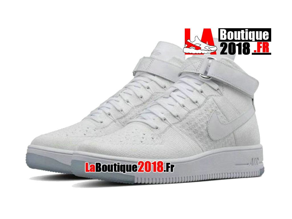 premium selection fab2b 2aa6a Nike Wmns Air Force 1 Ultra Flyknit Lifestyle Blanc 817420-100 Chaussure  Nike Boutique Pas Cher Pour Femme Enfant