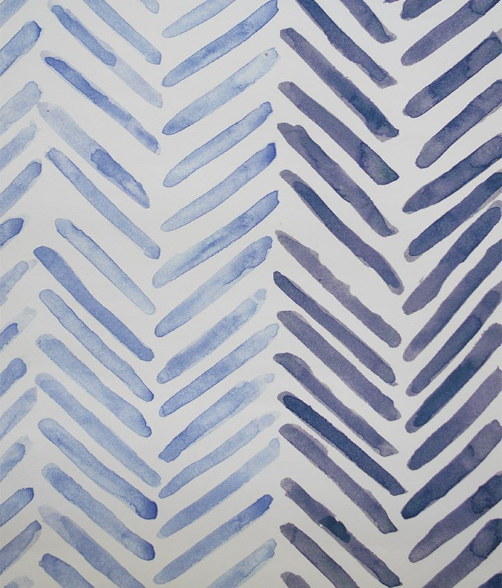 Blue Striped Wallpaper Printed In The Uk By Occipinti Herringbone Wallpaper Striped Wallpaper Blue Geometric Wallpaper