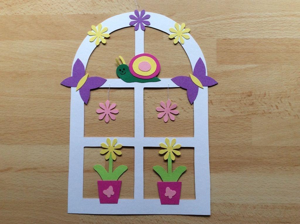 Rahmenbild Frühling Blume Fensterbild Tonkarton FOR SALE • EUR 1,50 ...