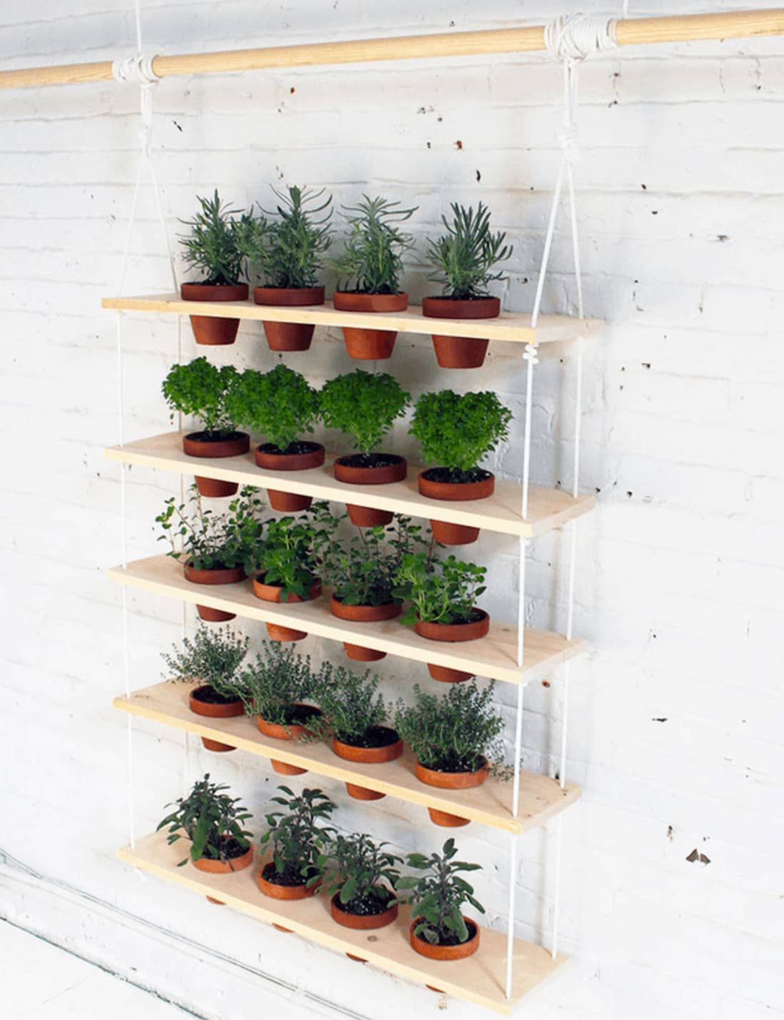 15 Indoor Garden Ideas for Wannabe Gardeners in Small Spaces is part of Outdoor herb garden, Indoor herb garden, Diy herb garden, Herb garden design, Vertical garden diy, Herbs indoors - No patio  No problem  You can still build a lush summer garden inside your four walls, no matter how much living space you have  We've rounded up more than a dozen indoor garden projects that take shape in new and different ways   growing up, hanging down, or simply making use of otherwise unused space