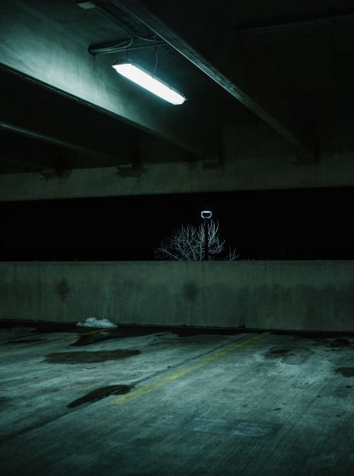 Empty Parking Lots at Night | Light | Urban photography ...