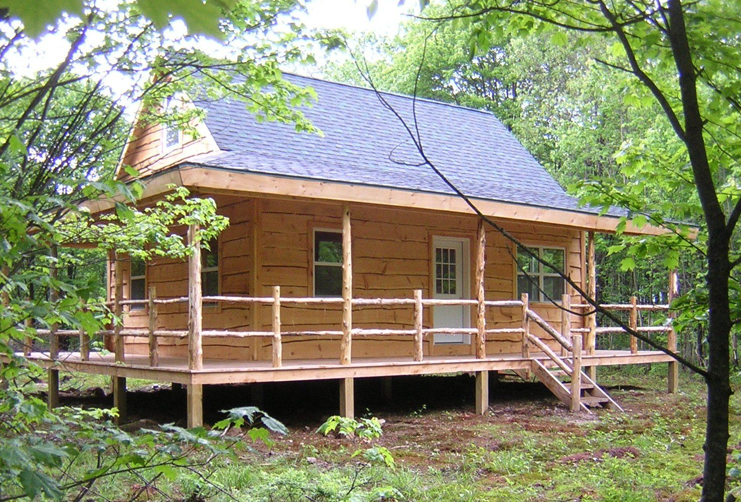 Upstate Ny Cabin With Wraparound Porch Landandcamps Com Customer Cabins Small Cabin Plans
